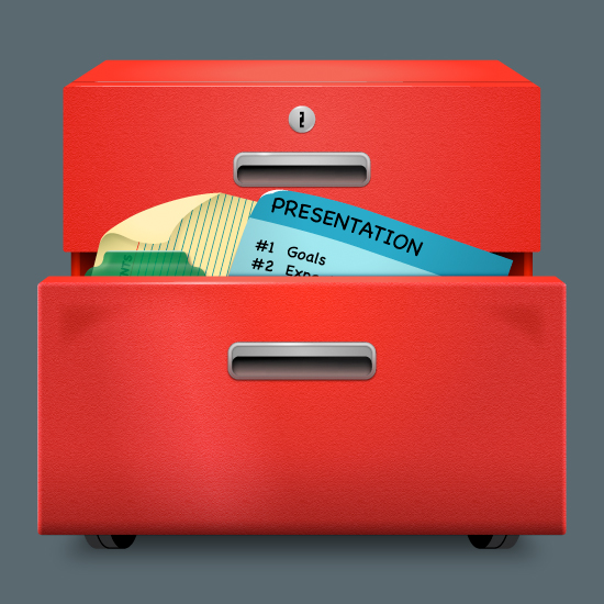 File Cabinet Icon & File Cabinet Icon - CAVE DESIGN